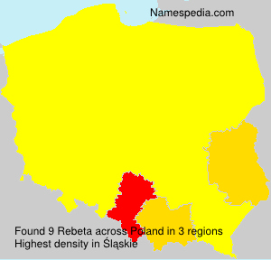 Surname Rebeta in Poland