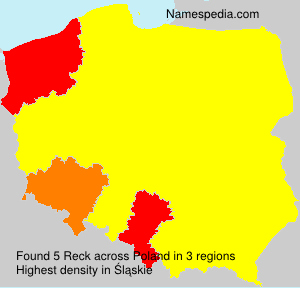 Surname Reck in Poland