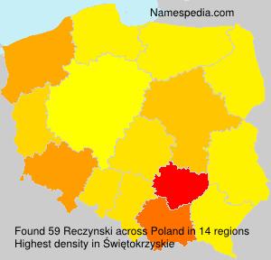 Surname Reczynski in Poland