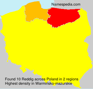 Surname Reddig in Poland