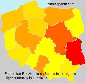 Familiennamen Redzik - Poland