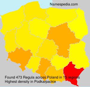 Surname Regula in Poland