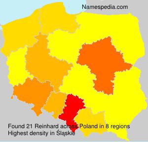Surname Reinhard in Poland