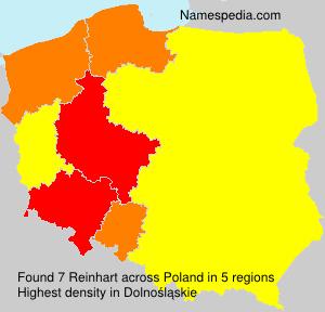 Familiennamen Reinhart - Poland