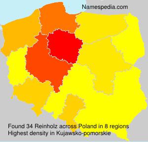 Surname Reinholz in Poland