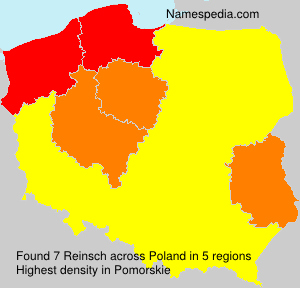 Surname Reinsch in Poland