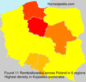 Surname Rembialkowska in Poland