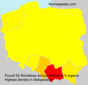 Surname Rembiesa in Poland