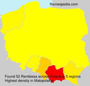 Surname Rembiesa in Poland