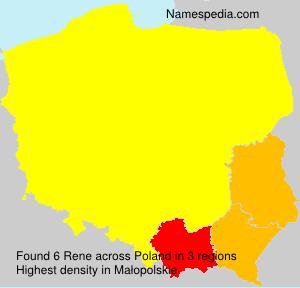 Surname Rene in Poland