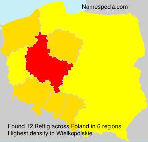 Familiennamen Rettig - Poland