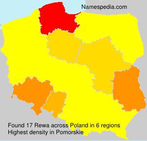 Surname Rewa in Poland
