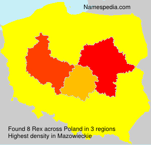 Familiennamen Rex - Poland
