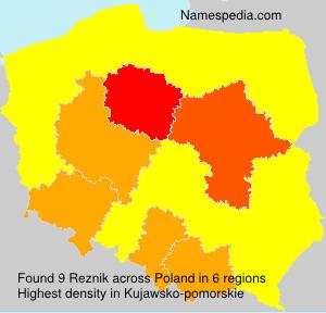 Familiennamen Reznik - Poland