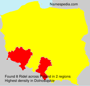 Surname Ridel in Poland
