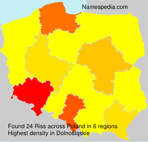 Surname Riss in Poland