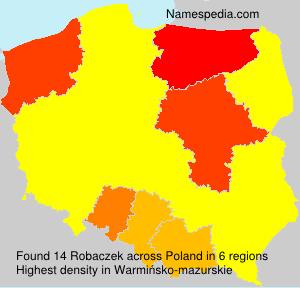 Familiennamen Robaczek - Poland