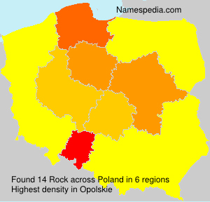Surname Rock in Poland