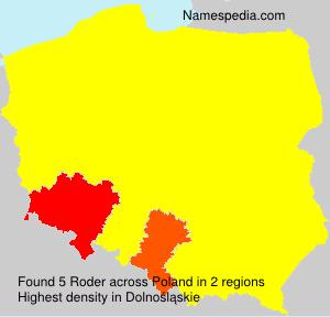Surname Roder in Poland