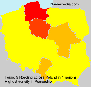 Surname Roeding in Poland