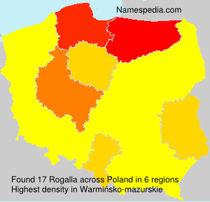 Surname Rogalla in Poland