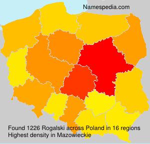 Surname Rogalski in Poland