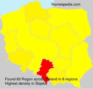 Surname Rogon in Poland