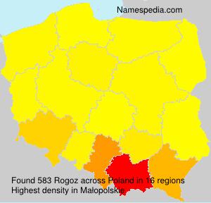 Surname Rogoz in Poland