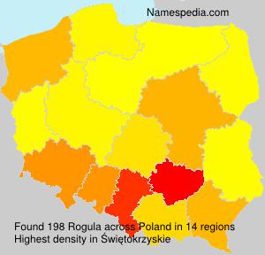 Familiennamen Rogula - Poland