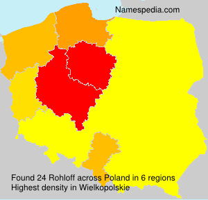Surname Rohloff in Poland