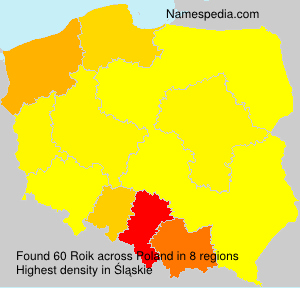Surname Roik in Poland