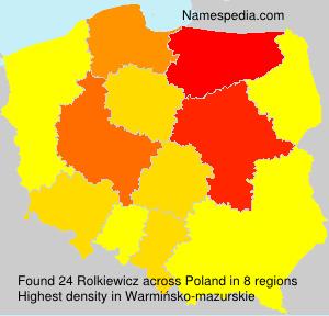 Surname Rolkiewicz in Poland
