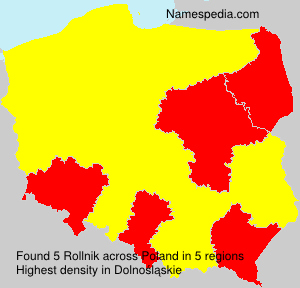 Surname Rollnik in Poland
