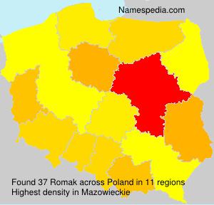 Surname Romak in Poland