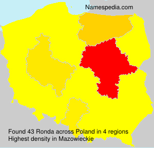 Surname Ronda in Poland