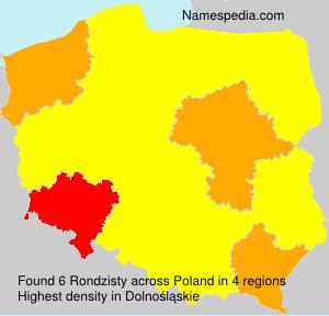 Familiennamen Rondzisty - Poland