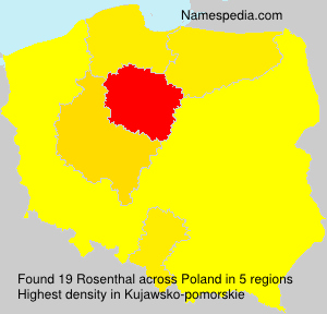 Surname Rosenthal in Poland