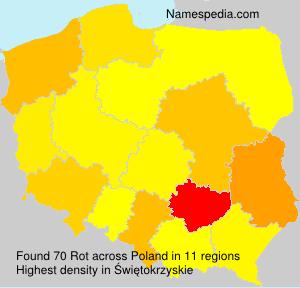Familiennamen Rot - Poland