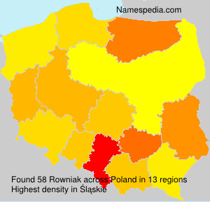 Surname Rowniak in Poland