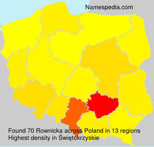 Surname Rownicka in Poland
