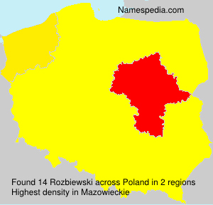 Surname Rozbiewski in Poland