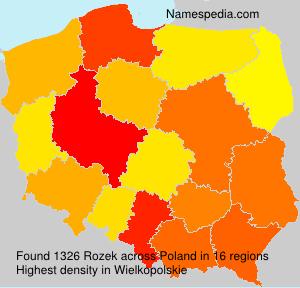 Familiennamen Rozek - Poland