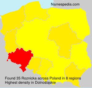 Familiennamen Roznicka - Poland