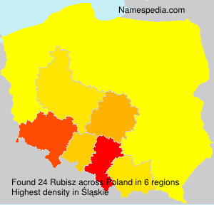 Surname Rubisz in Poland
