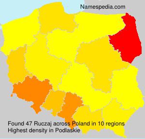 Familiennamen Ruczaj - Poland