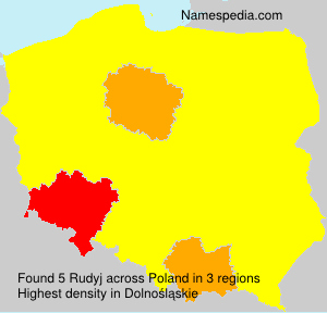 Surname Rudyj in Poland