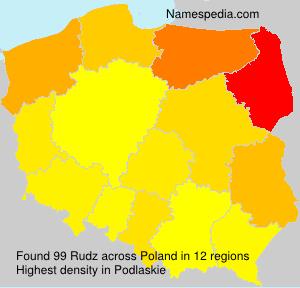 Surname Rudz in Poland