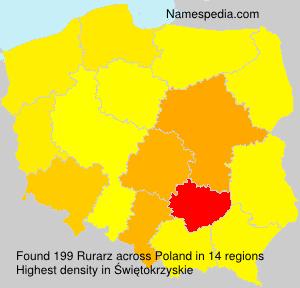 Familiennamen Rurarz - Poland