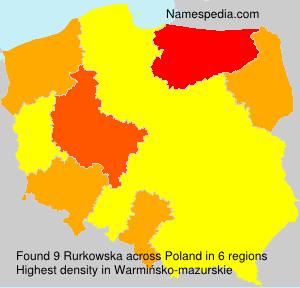 Surname Rurkowska in Poland