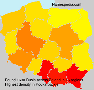 Surname Rusin in Poland
